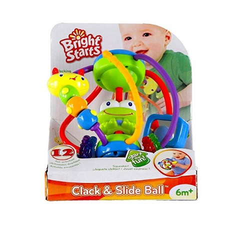 8 Month Old Toys Bright Stars Slide and Click Ball Box