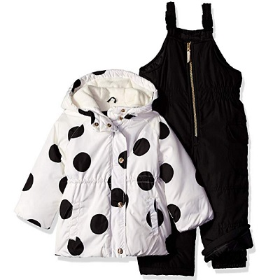 carter's girls' baby snowsuit dots