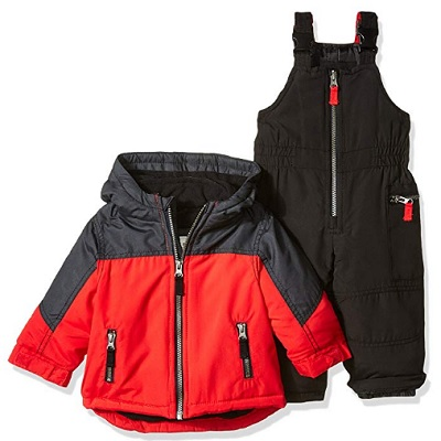 carter's boys' heavyweight baby snowsuit red
