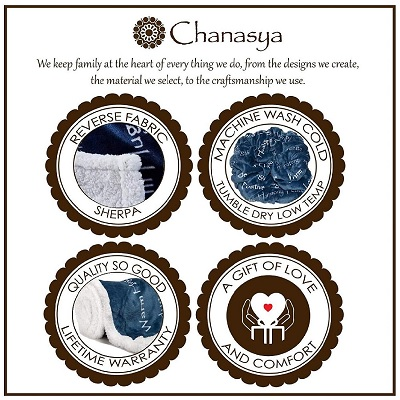 chanasya blanket christmas gift for grandma features