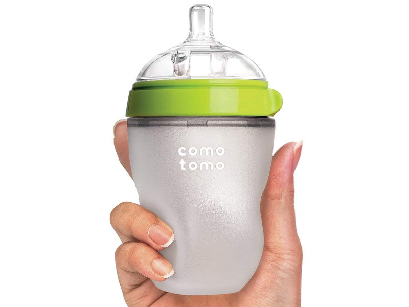 The Comotomo Baby Bottle is squeezable due to its silicone built.