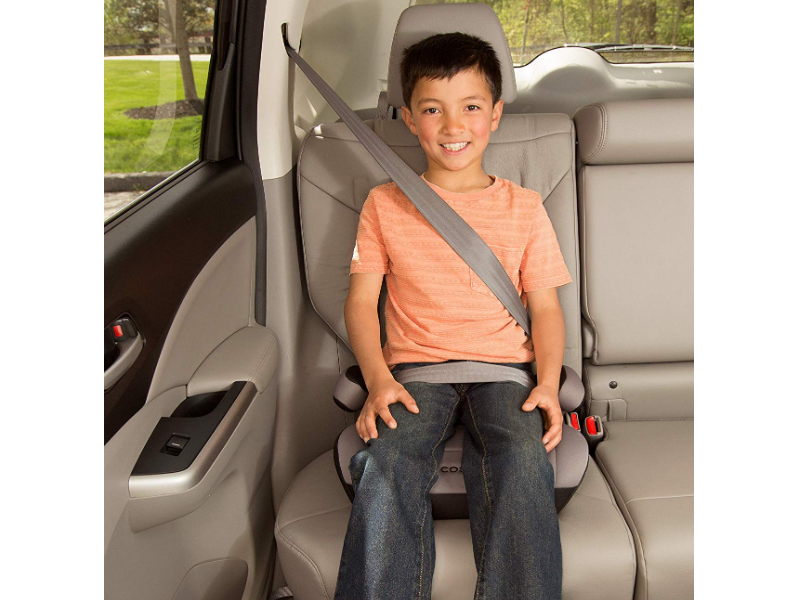 The Cosco Booster Seat is designed with kids' safety in mind.