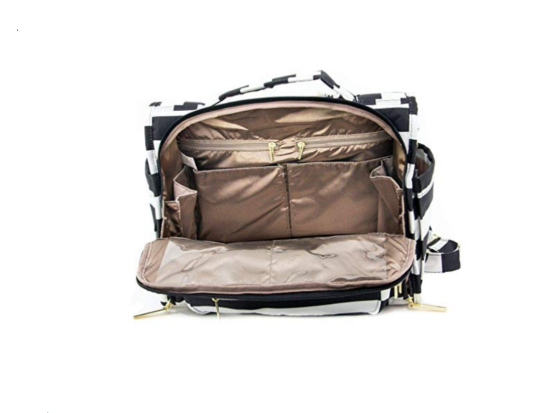The JuJuBe B.F.F Diaper Bag is well organized with several compartments and small pockets.