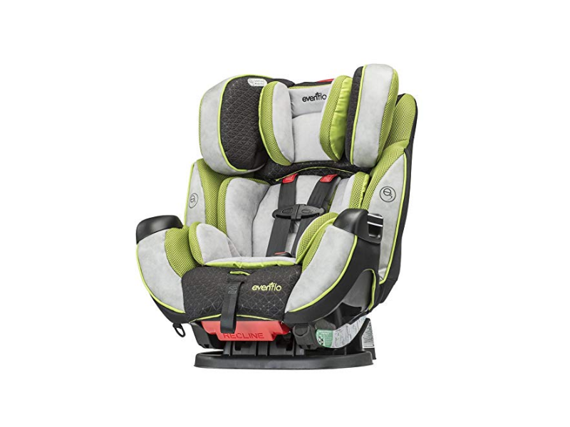The Evenflo Symphony all-in-one convertible car seat.