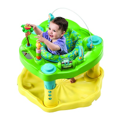 Evenflo Exersaucer Bounce & Learn with child playing top