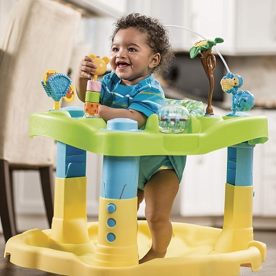 Evenflo Exersaucer Bounce & Learn with child playing front