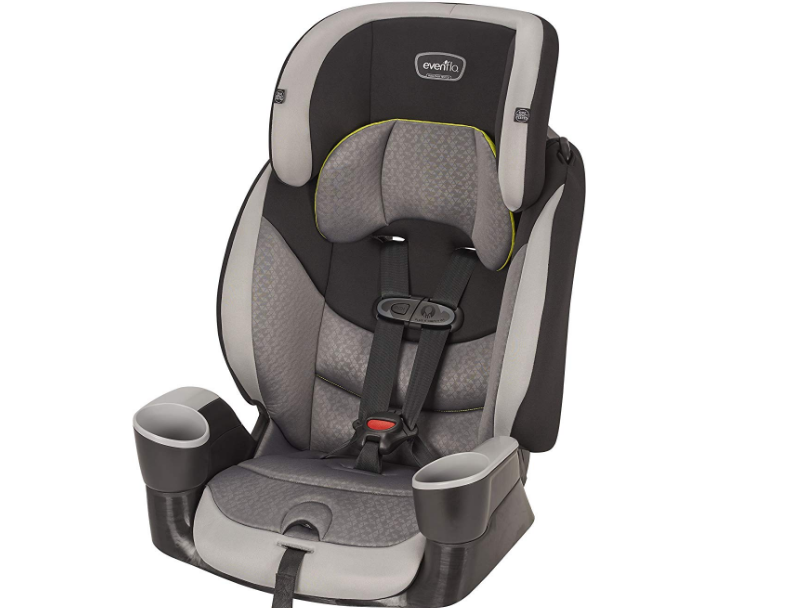 The Evenflo Maestro Sport  doubles as a forward facing seat & a booster seat for growing children.