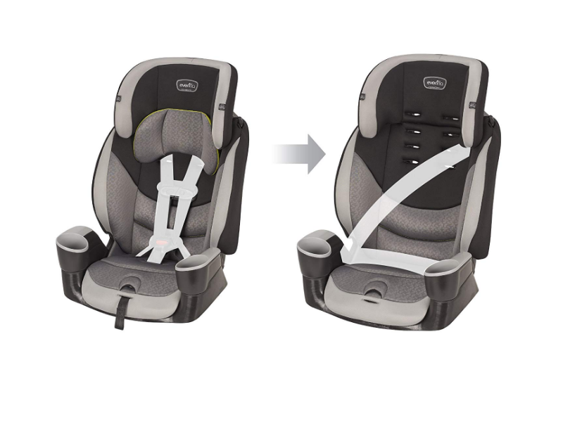 The Evenflo Maestro Sport 2 different positions.