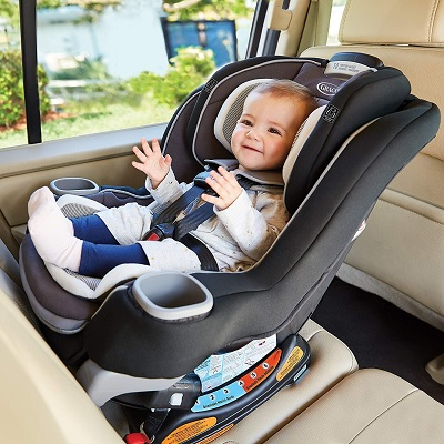 extend2Fit platinum convertible graco car seat baby