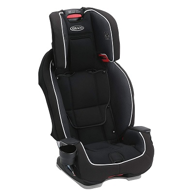 milestone all in 1 convertible graco car seat front