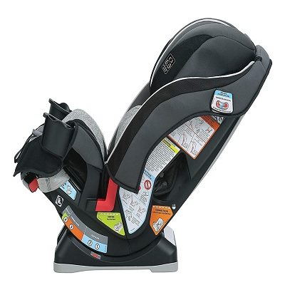 slimFit 3-in-1 convertible graco car seat reclined