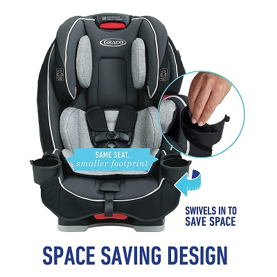 slimFit 3-in-1 convertible graco car seat features
