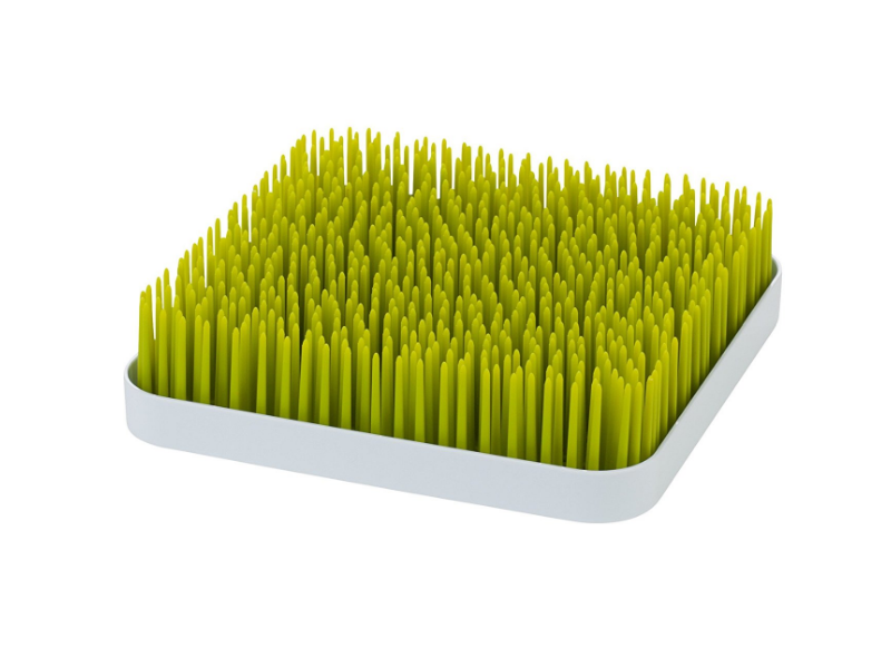The Boon Green Grass Countertop Drying Rack looks good in any kitchen.