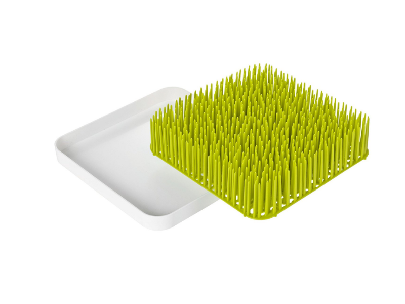 The Boon Green Grass Countertop Drying Rack is useful for drying items of all shapes and sizes.