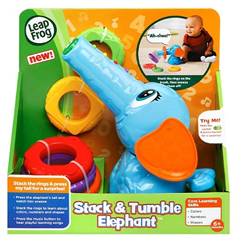 8 Month Old Toys LeapFrog Stack and Tumble Elephant Box