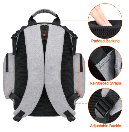 Mancro Backpack Water Resistant back