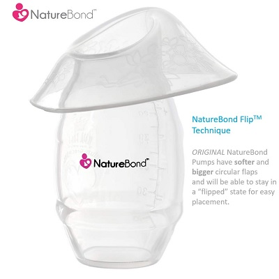 NatureBond Silicone Saver Suction Manual breast pump display