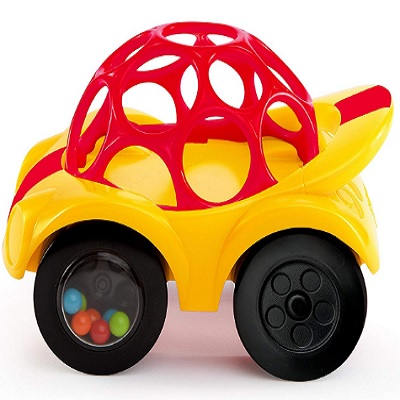 Oball Rattle N Roll Car Red and Yellow