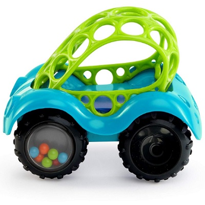 Oball Rattle N Roll Car Blue and Green