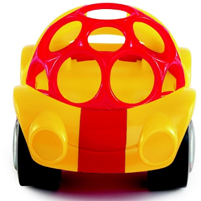 Oball Rattle N Roll Car Yellow and Red Front