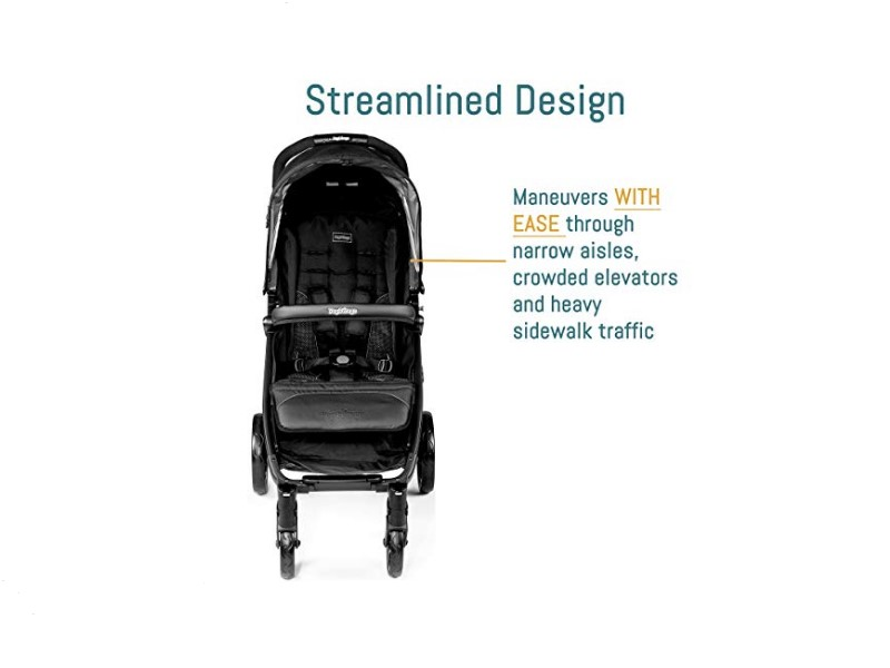 The stroller can be maneuvered with ease.