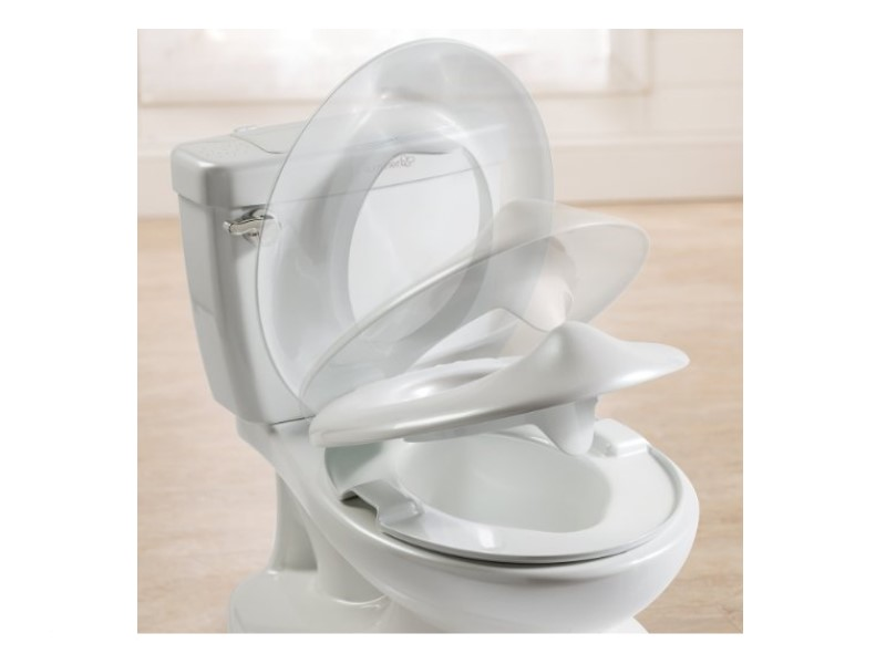 The Summer Infant My Size Potty has a flip-up lid.