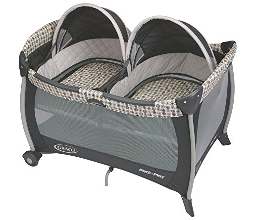 The Graco Twin Pack'n'Play features two comfy bassinets.