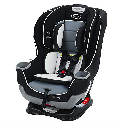 Graco Extend2Fit convertible car seat for kids from 4 to 50 lbs.