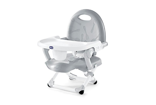 The Chicco Pocket Snack Booster Seat is lightweight and foldable.