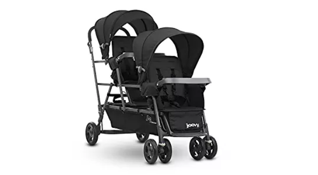 The Joovy Big Caboose comes with 3 comfortable seats.