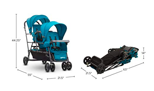 The Joovy Big Caboose offers plenty of space for 3 children.