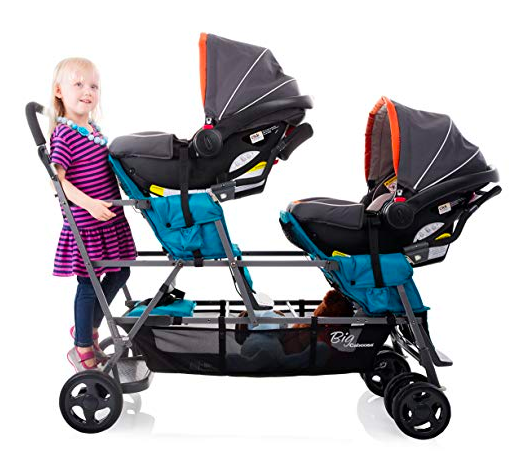 The Joovy Big Caboose can be used for kids of multiple ages.