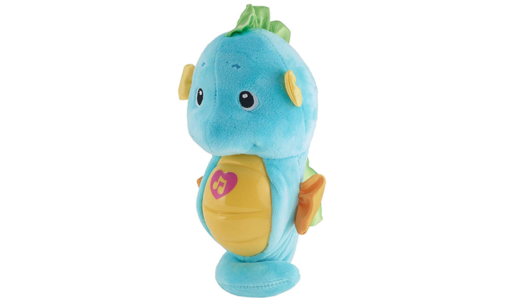 The Fisher-Price Soothe & Glow Seahorse is soft & cuddly.