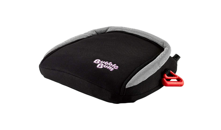 The BubbleBum Booster is inflated by mouth within 20 seconds.