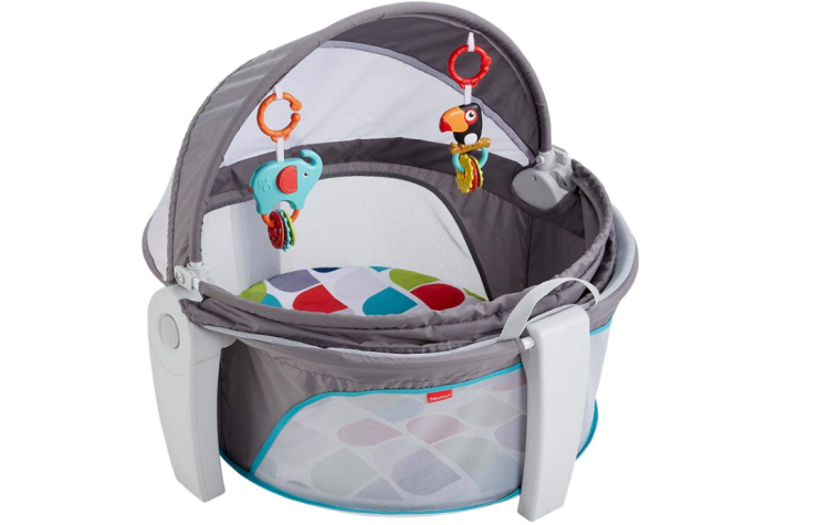 The Fisher-Price On-The-Go Baby Dome is popular for its portability