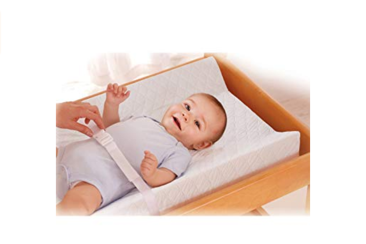 The Summer Infant Changing Pad comes with a harness to keep the infant safe.