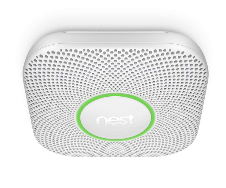 The Nest Protect green light safety indicator.