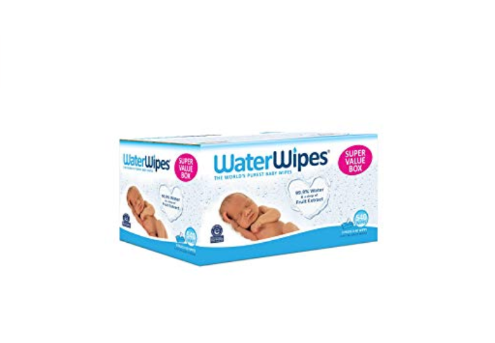 The WaterWipes are made of 99% water and fruit extract.
