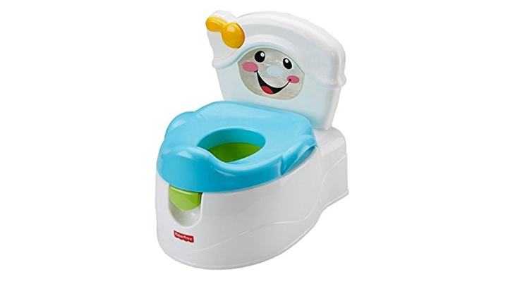 The Fisher-Price Learn to Flush Potty has an adorable design.
