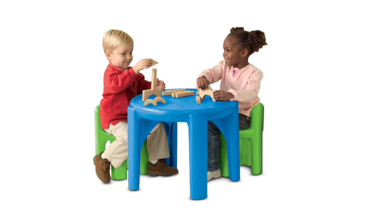 The Little Tikes Bright N' Bold Table and Chairs make a perfect play station.