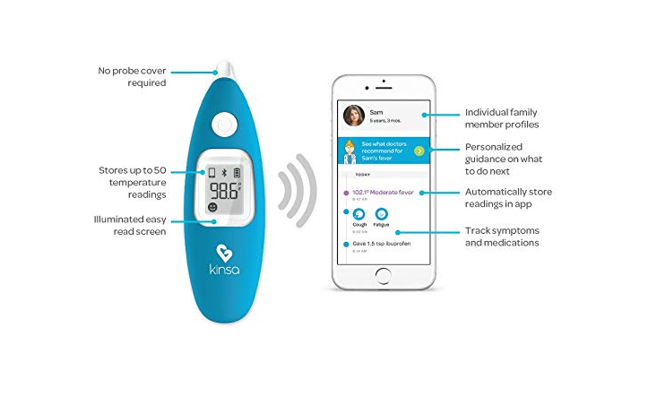 The Kinsa Smart Ear Digital Thermometer is easy to clean.