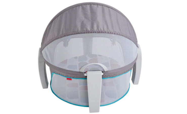 The Fisher-Price On-The-Go Baby Dome is as comfortable as a regular bassinet.
