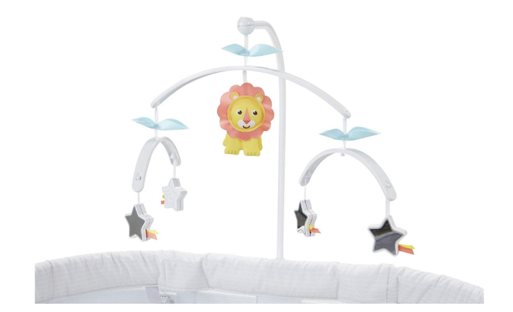 Fisher-Price Soothing Motions Bassinet comes with a cute baby mobile.