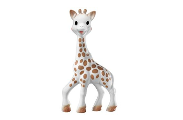 Sophie la Girafe was deisgned to stimulate babies' five senses.