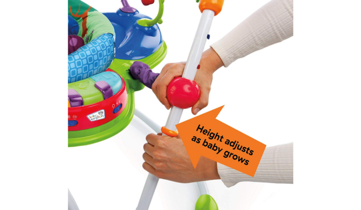 Baby Einstein Neighborhood Friends Activity Jumper is easy to assemble.