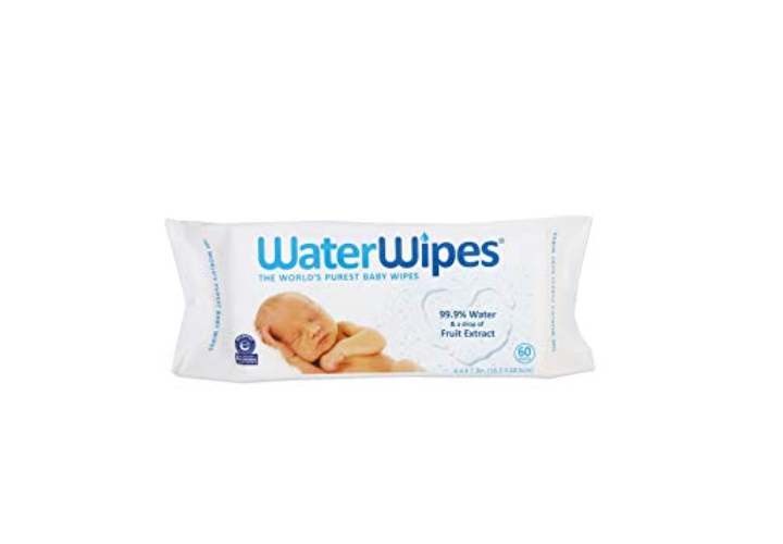 The WaterWIpes packaging.