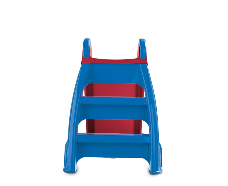 The Little Tikes First Slide is at a safe height for toddlers.