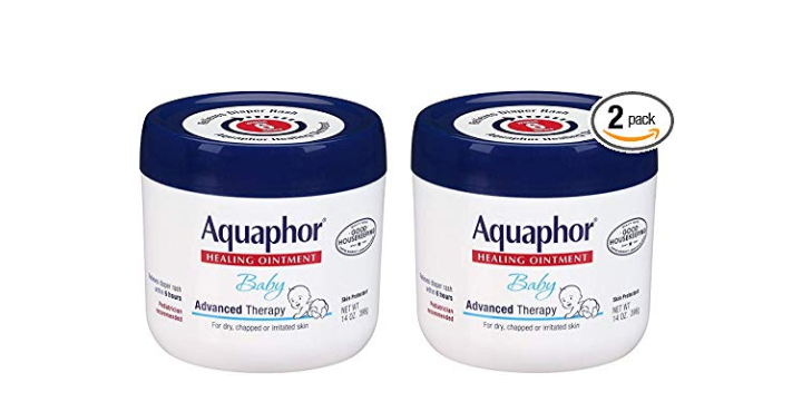 The Aquaphor Baby Healing Ointment Advanced is a product recommended by pediatricians.