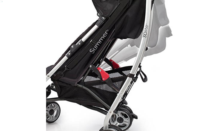 The Summer Infant 3D Lite features shock absorbent wheels.