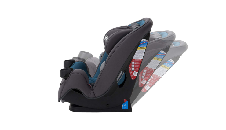 The Safety 1st Grow and Go features a 3 position recline.